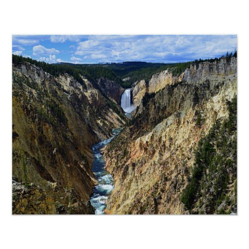 Lower Yellowstone Falls, Yellowstone National Park Poster