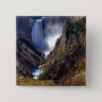 Lower Yellowstone Falls, Yellowstone National Pinback Button