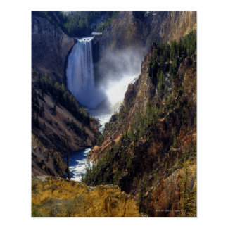 Lower Yellowstone Falls, Yellowstone National Poster