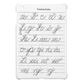 Lowercase Cursive Guide Case For The iPad Mini