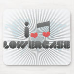 Lowercase fan mouse pad