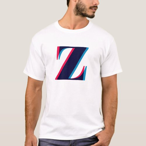 Lowercase Letter Z Anaglyphic Monogram T_Shirt