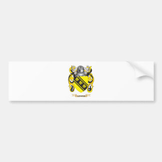 Lowes Coat of Arms (Family Crest) Bumper Sticker