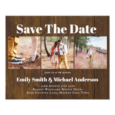 Lowest Price Budget Save Date Photo Collage Flyer