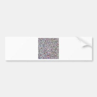 LOWEST PRICE Confetti Sparkle Template + IMG Text Car Bumper Sticker