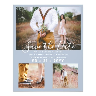 LOWEST PRICED Dusty Blue Photo Save the Date Flyer