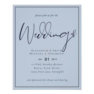LOWEST PRICED Dusty Blue Wedding Flyer