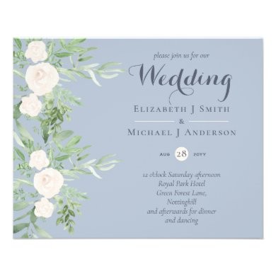 LOWEST PRICED Magnolia Dusty Blue Flower Wedding F Flyer