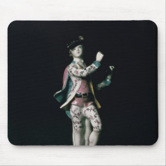 Lowestoft figure of a boy playing a triangle mouse pad