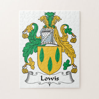 Lowis Family Crest Jigsaw Puzzles