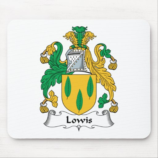 Lowis Family Crest Mouse Mats