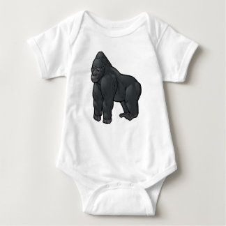Lowland Gorilla Baby Bodysuit