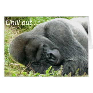 Lowland Gorilla Chill Out Card