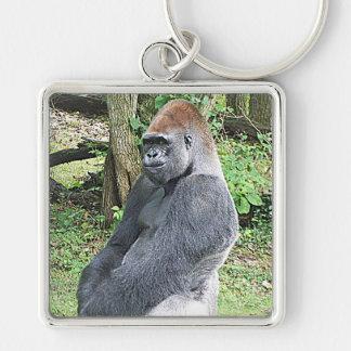 Lowland Gorilla in Sitting Pose Key Chains