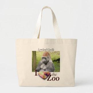 Lowland Gorilla Large Tote Bag