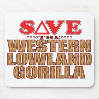 Lowland Gorilla Save Mouse Pad