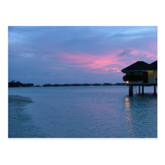 lowland sunset postcard