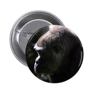 Lowland Western Gorilla Button