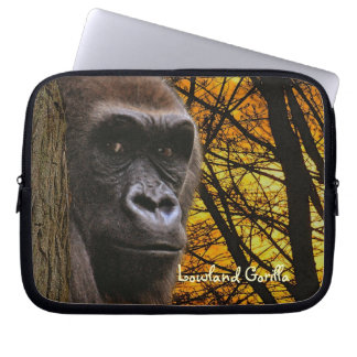 Lowlands Gorilla Wildlife Laptop Sleeve