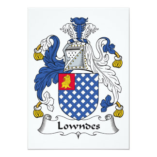 Lowndes Family Crest Card