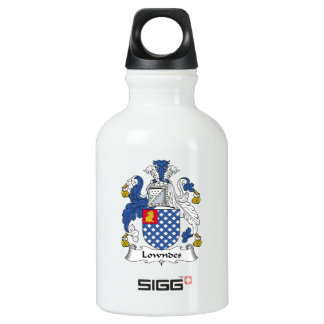 Lowndes Family Crest Water Bottle