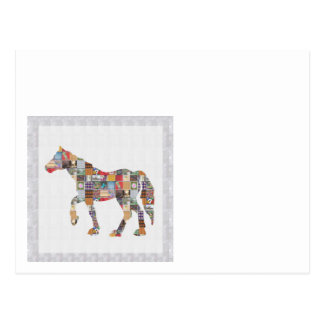 LOWprice GrandSIZE Card HORSE Collage Art NVN482 Postcard