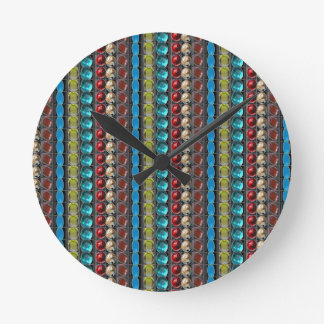 LOWPRICE Quality GIFTS Jewels Patterns Sparkle fun Round Wall Clocks