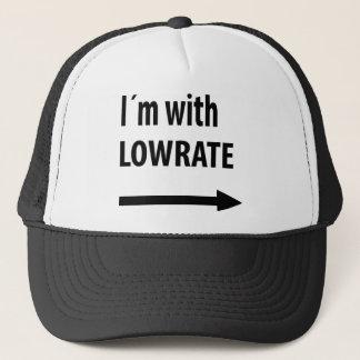 lowrate humor icon trucker hat