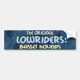 Lowrider Basset Hound Bumper Sticker Car Bumper Sticker