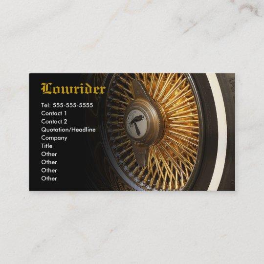 Lowrider Car Club Business Card Zazzle