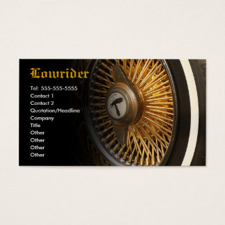 Lowrider Car Club Business Card