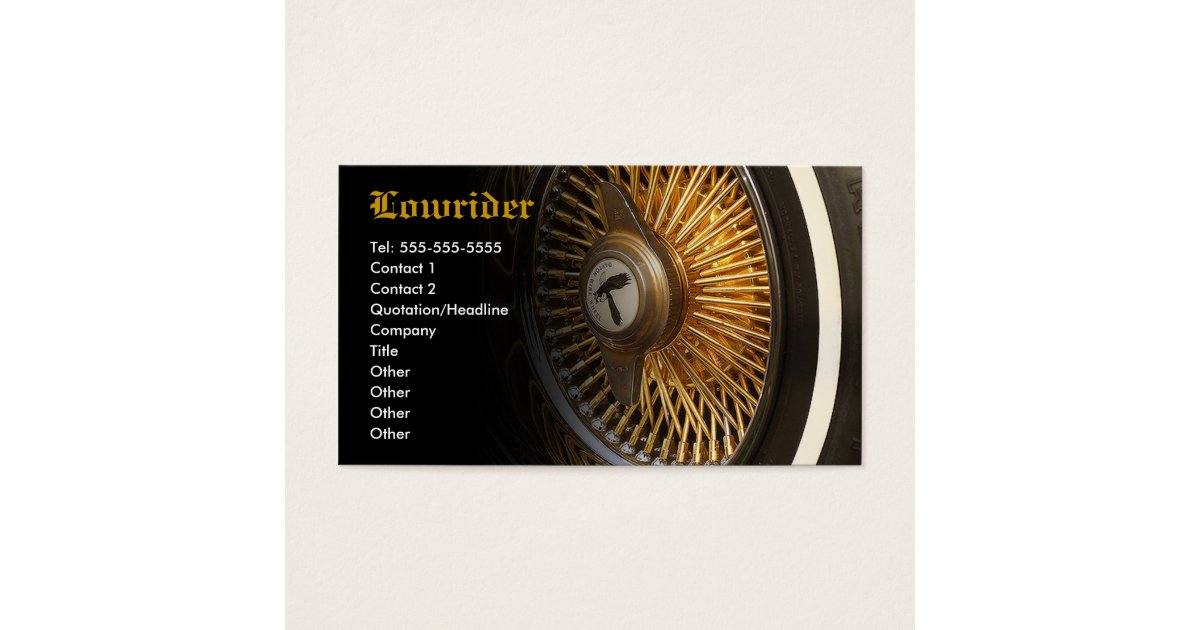 Lowrider Car Club Business Card | Zazzle.com