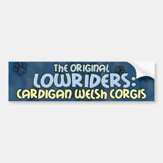 Lowrider Cardigan Welsh Corgi Bumper Sticker