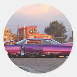 lowrider classic round sticker