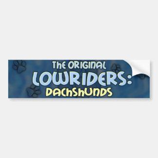 Lowrider Dachshund Bumper Sticker