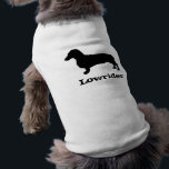"""Lowrider Dachshund Pet Clothing<br><div class=""""desc"""">For the short dog in your life.  Dress up the pet you love with this stylish shirt! Available in many sizes and colors.  Original art &#169; Lydia &quot;PrairieGhost&quot; Jacobs 2009</div>"""
