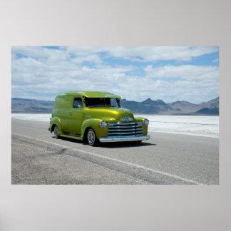 Lowriding Chevy at the Bonneville Salt Flats Poster