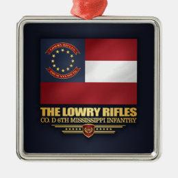 Lowry Rifles Metal Ornament
