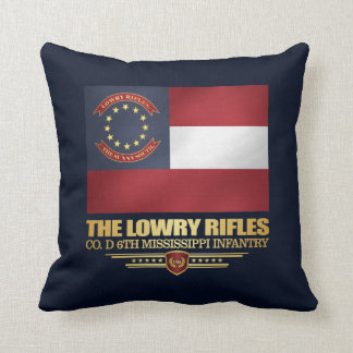 Lowry Rifles Throw Pillow