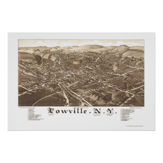 Lowville, NY Panoramic Map - 1885 Poster