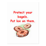 lox and bagels post card
