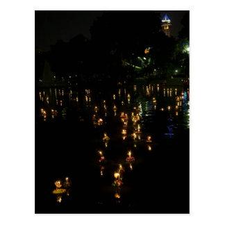 Loy Krathong Bangkok Lumpini Park Postcards