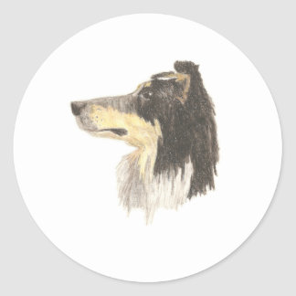 Loyal Collie Stickers