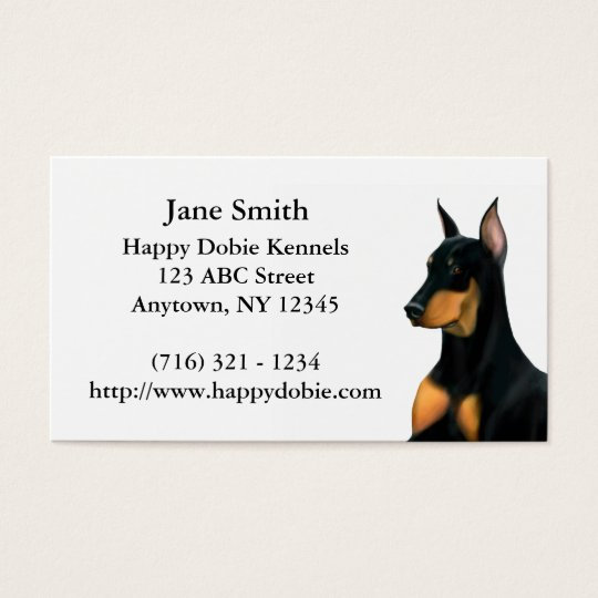 Loyal Doberman Pinscher Dog Business Card