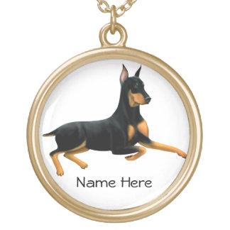 Loyal Doberman Pinscher Dog Necklace