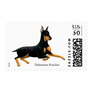 Loyal Doberman Pinscher Dog Postage