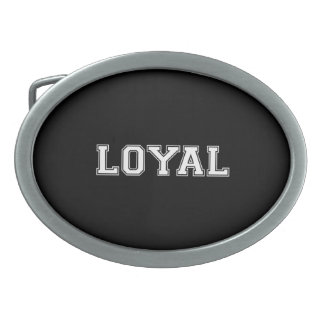 LOYAL in Team Colors Black and White  Oval Belt Buckle