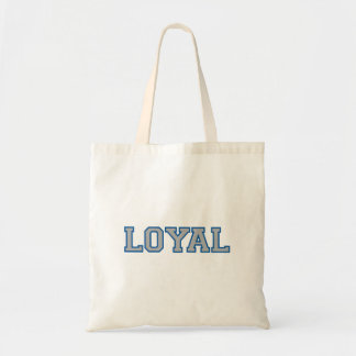 LOYAL in Team Colors Blue and Silver  Tote Bag