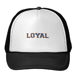 LOYAL in Team Colors Bright Blue and Orange  Hats