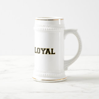 LOYAL in Team Colors Bronze and Black  Beer Stein